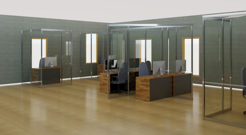 Allestimento Covid-19 per ufficio